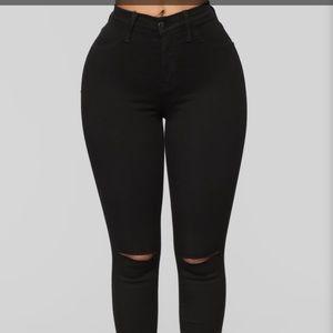Fashion Nova Black Canopy Jean